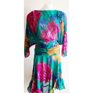 Pink/Green Vintage Dress Size Medium